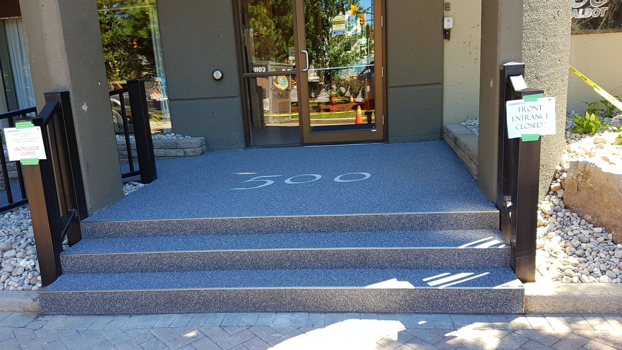 Building Number Entrance Rubber Surfacing