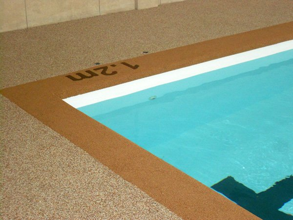 Outdoor Pool Rubber Surfacing