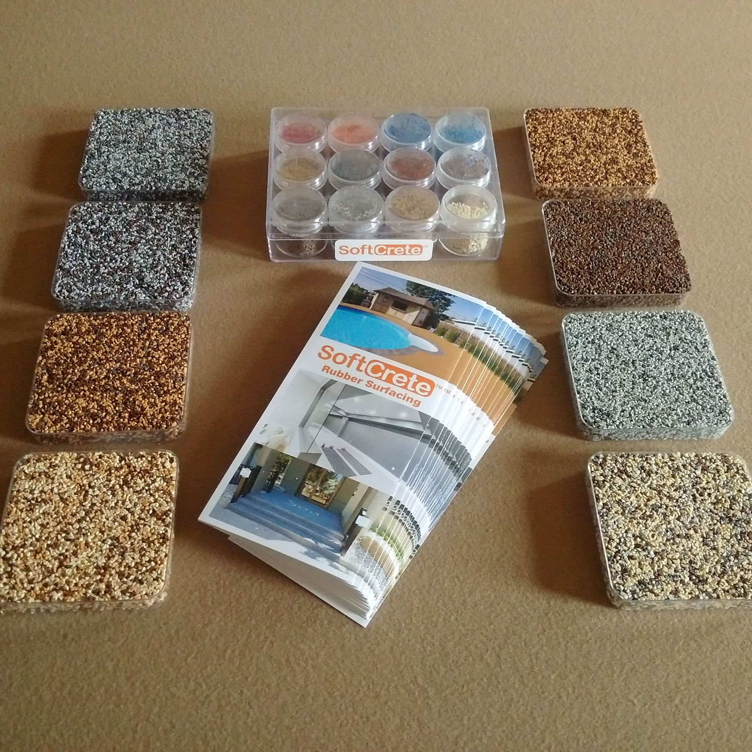 Soft Crete Rubber Flooring Colours