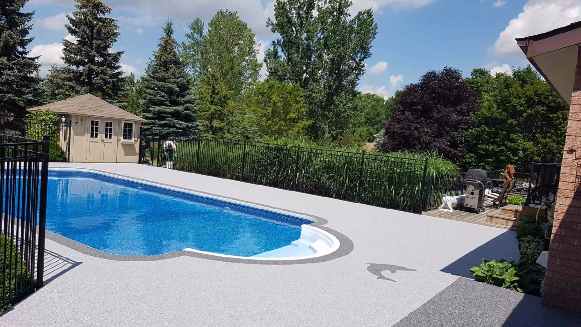 Before & After Indoor Pool Deck Rubber Surfacing