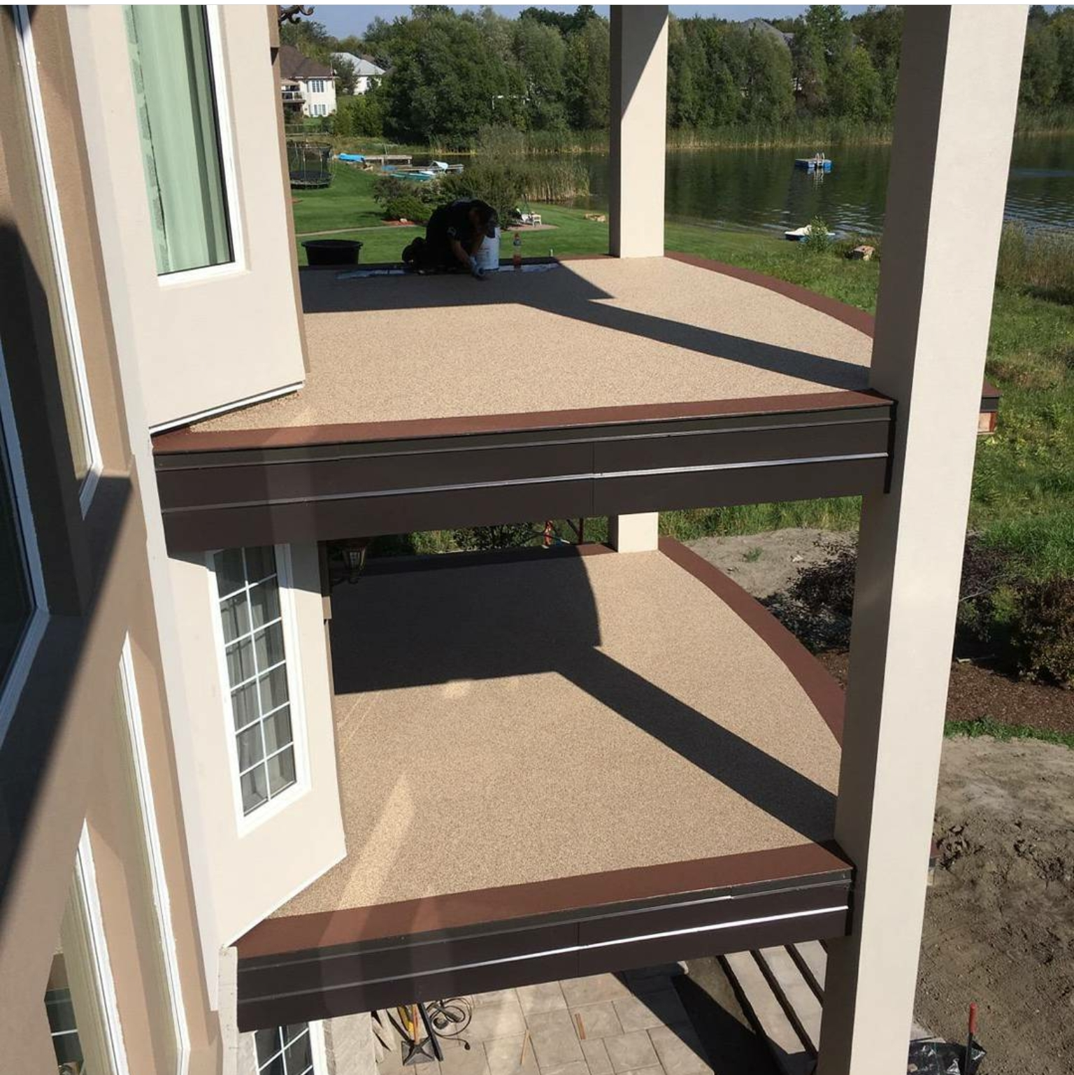 Soft Crete Rubber Surfacing On Balcony